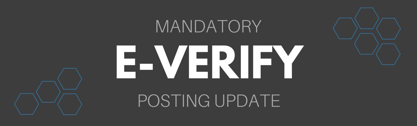 E-Verify Posting Update