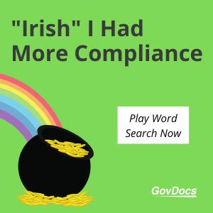 Irish I Had More Compliance Word Search Puzzle