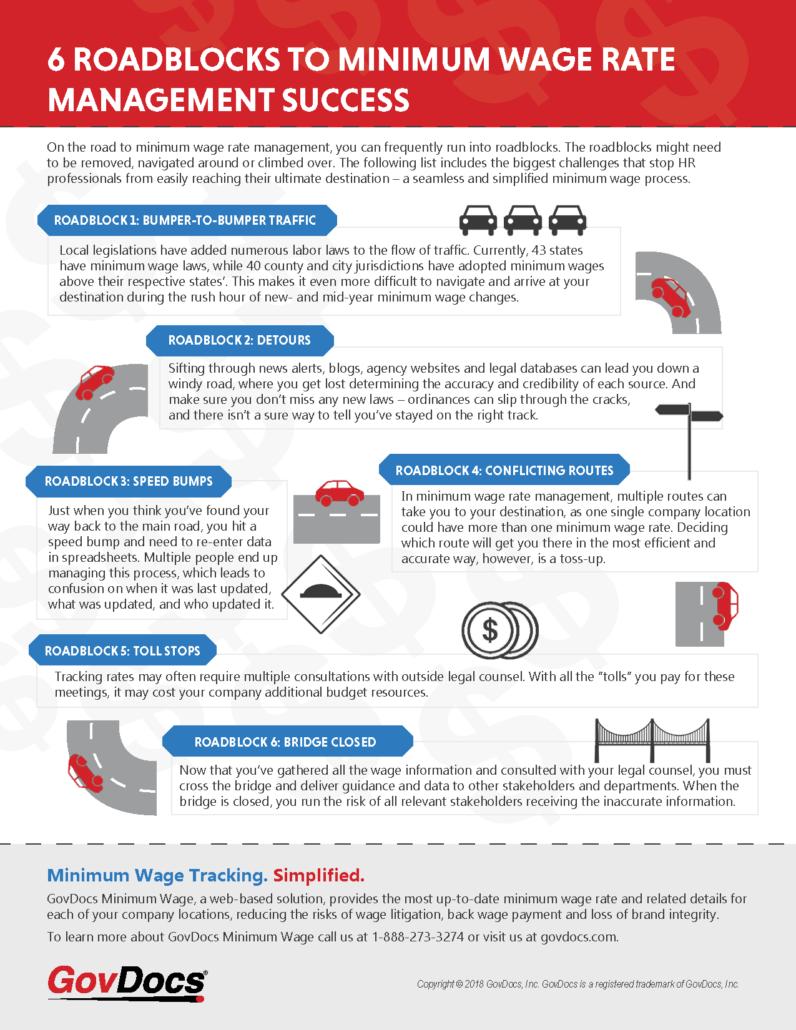 The 6 Roadblocks to Minimum Wage Management Tip Sheet