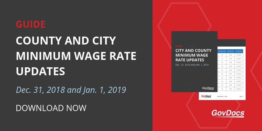 Early 2019 State Minimum Wage Updates Govdocs