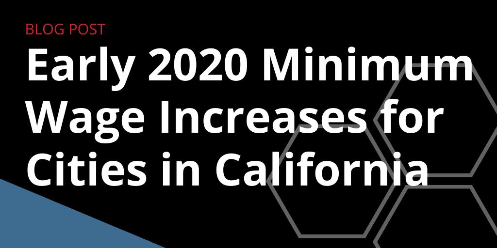 2020 Minimum Wage Rates For California Cities Govdocs