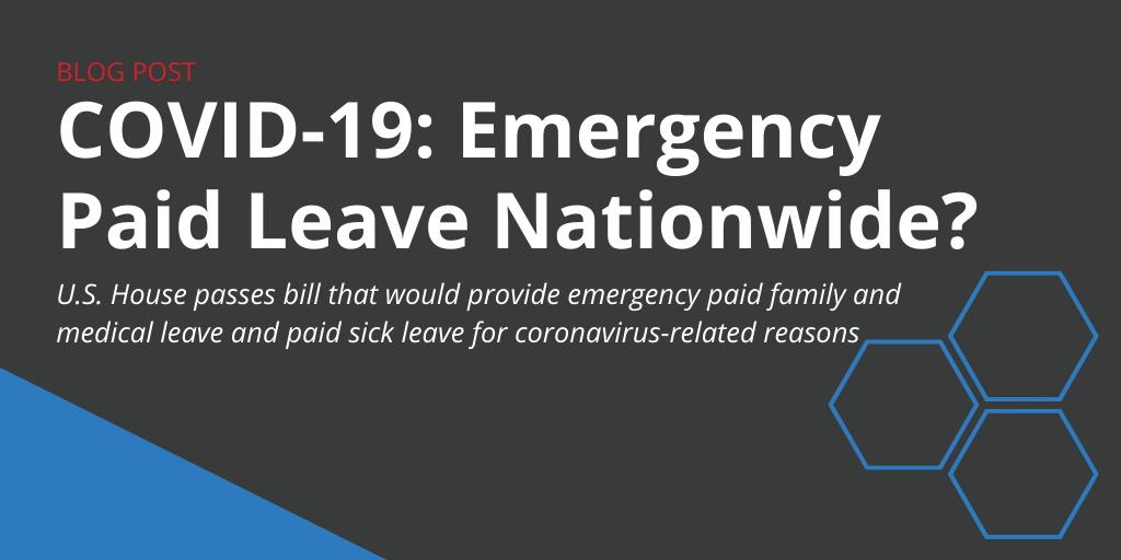 Coronavirus: U.S. House Passes Bill for Emergency Paid Leave