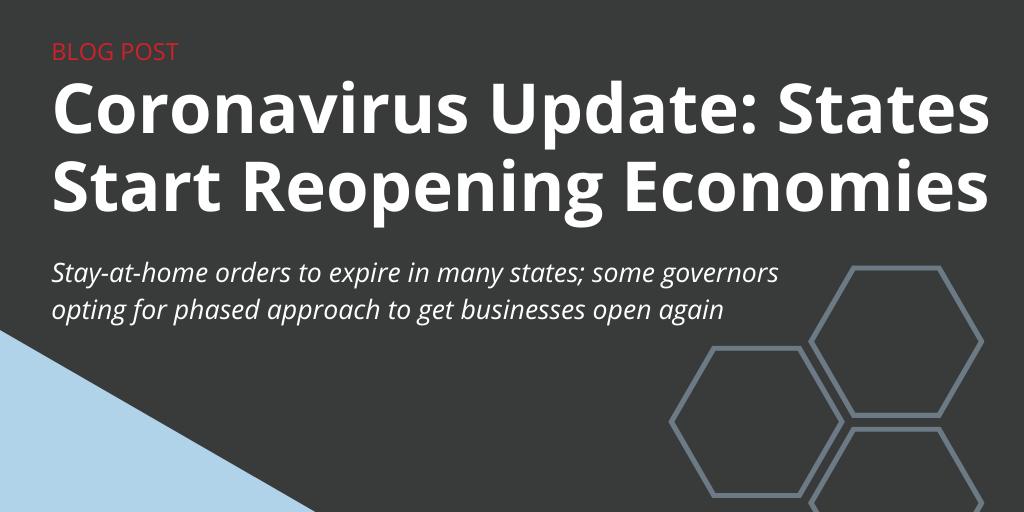 Coronavirus Update: States Start Reopening Economies