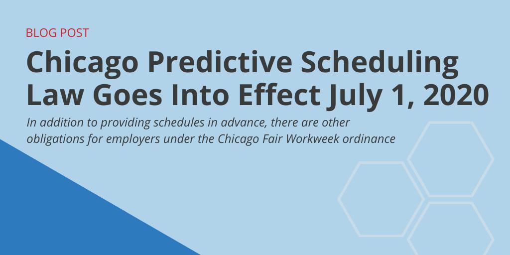 Chicago Predictive Scheduling law