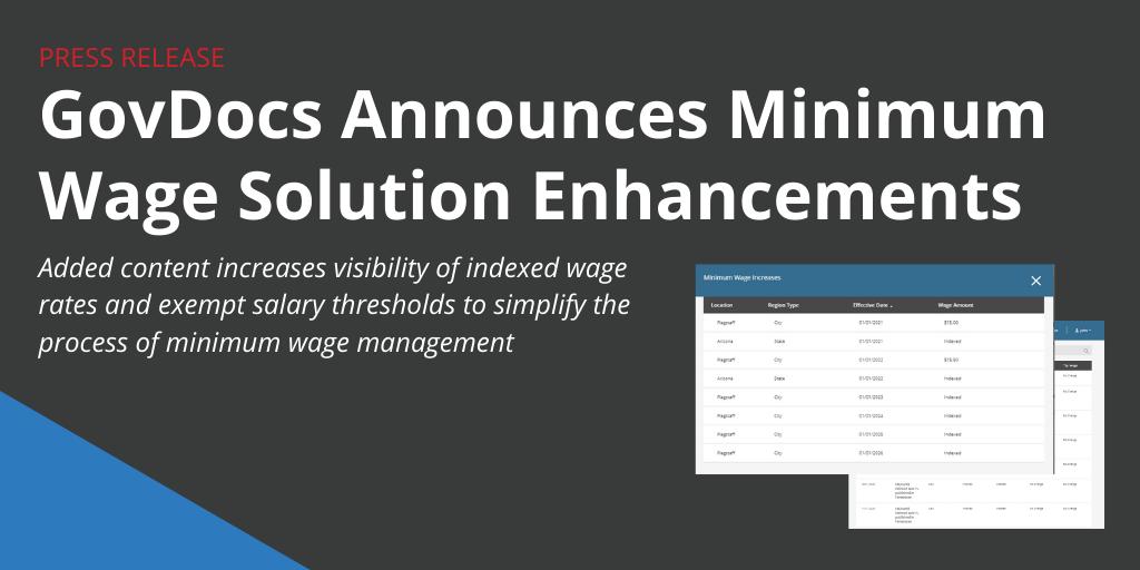 GovDocs Minimum Wage Enhancements
