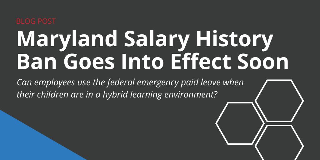 Maryland Salary History Ban