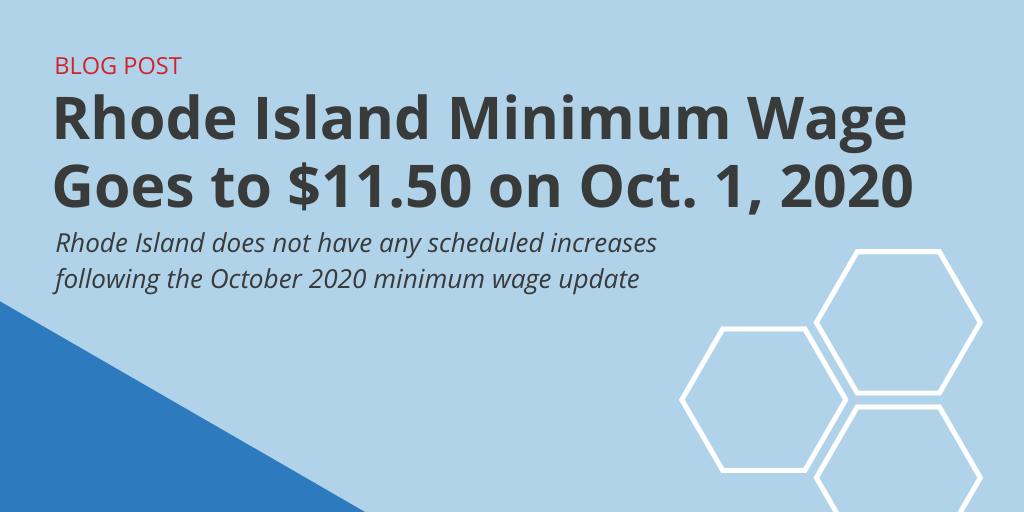 Rhode Island Minimum Wage 2020