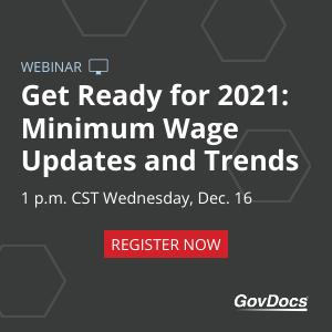 2021 Minimum Wage rates