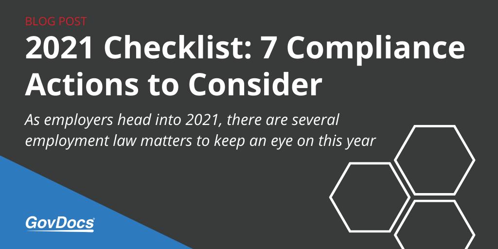 2021 Compliance Checklist