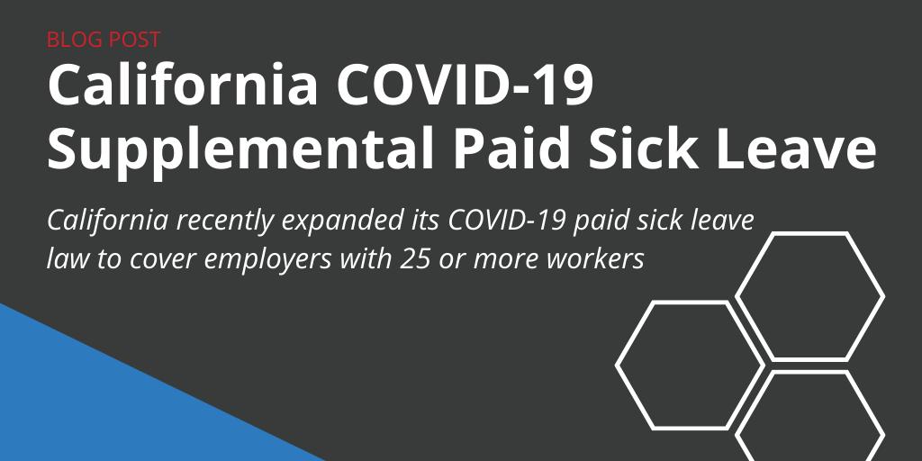 California COVID-19 Paid Sick Leave