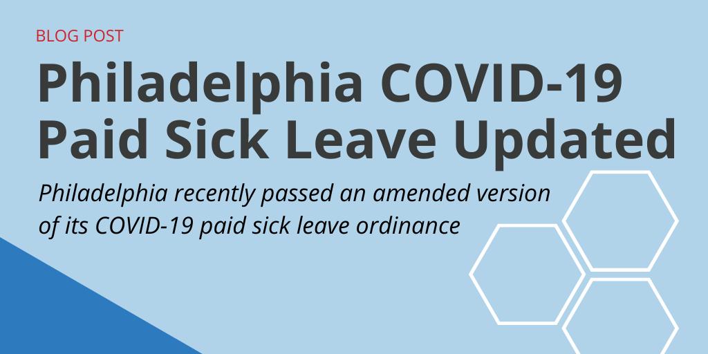 Philadelphia COVID-19 Paid Sick Leave