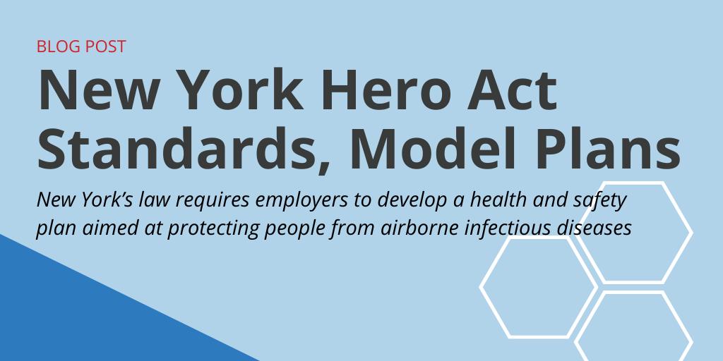 New York Hero Act Standards, Model Plans