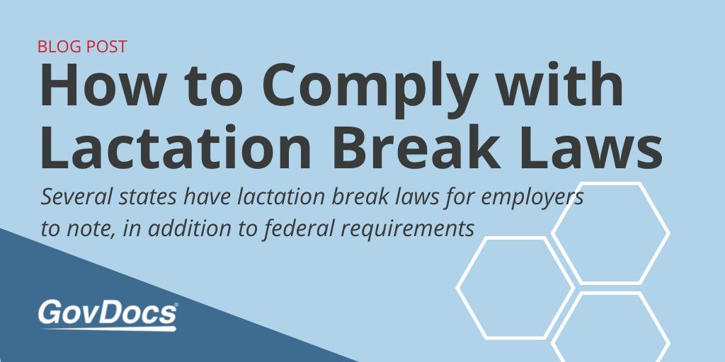 Lactation Break Laws