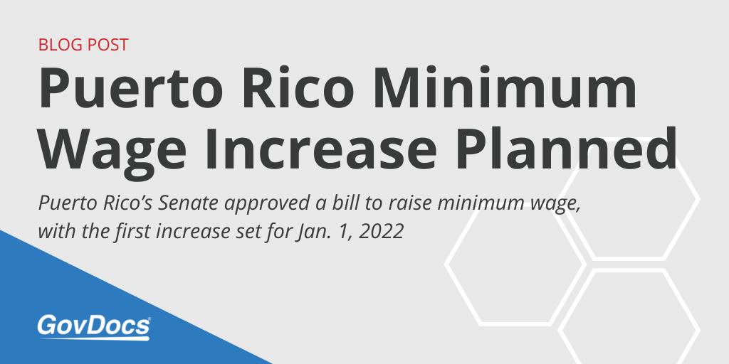 Puerto Rico Minimum Wage Increase